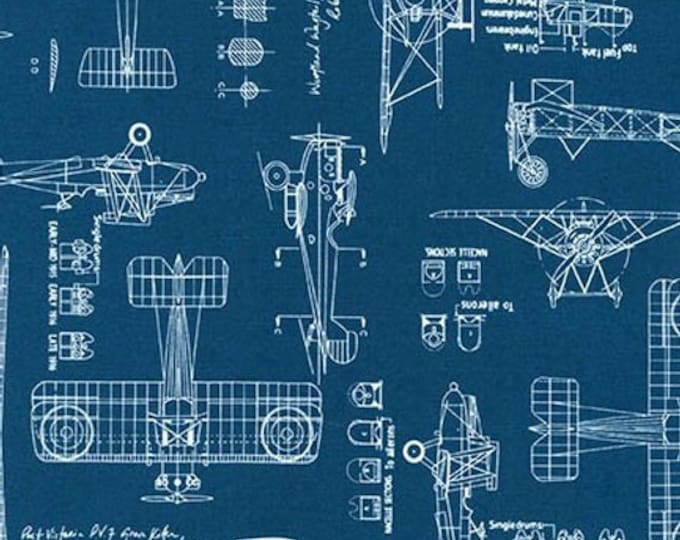 Vintage Blueprints 1567562- 1/2yd
