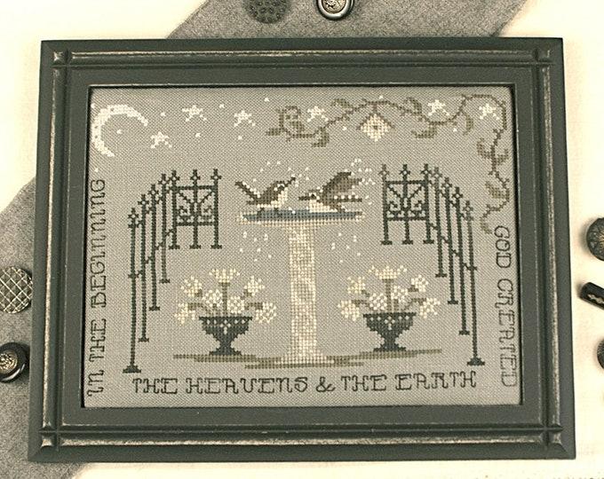 In the Garden - Lone Elm Lane - Cross stitch chart