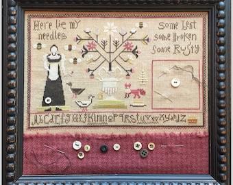 Here Lie My Needles - Shakespeare's Peddler - Cross Stitch Chart
