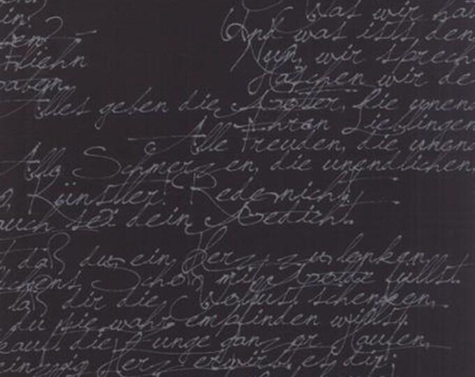Modern BG Ink Handwriting Black - 1/2yd