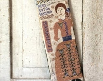 Embroideress Stocking by Kathy Barrick - Paper Chart