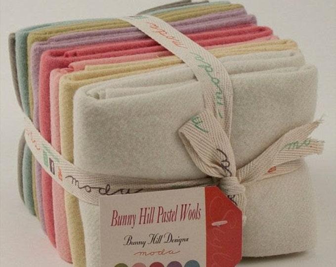 Pastel 100% Wool - 8 large FQs