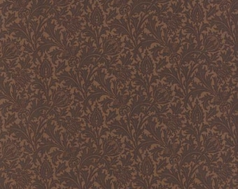 Morris Earthly Paradise Thistle Brown 833223 - 1/2yd