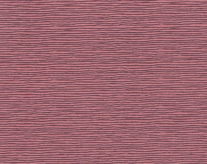 A Wandering Mind - Scribble Stripe - Rose - 1 yd