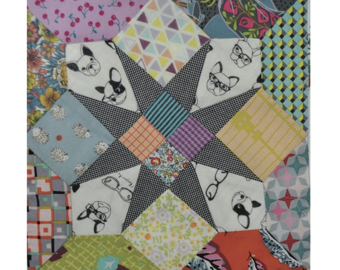 4 Patch Star - Tempter by Jen Kingwell - Templates