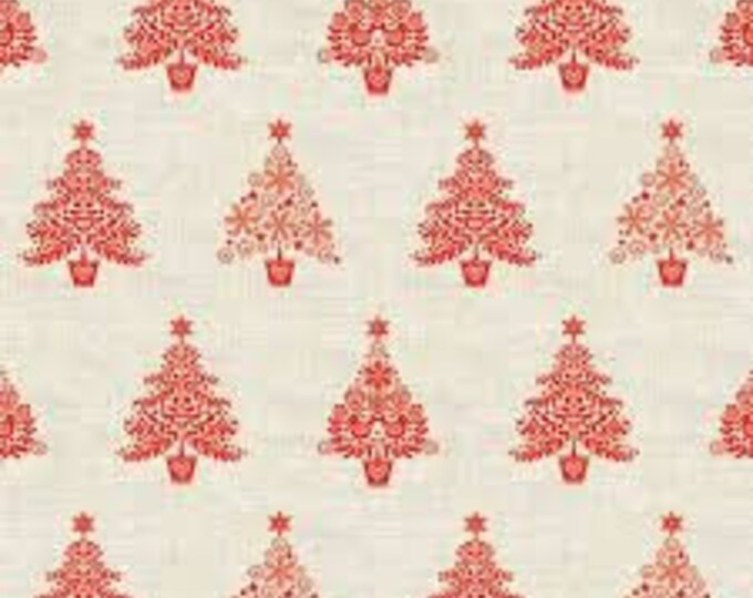 Christmas Village 1963R Red - 1/2yd