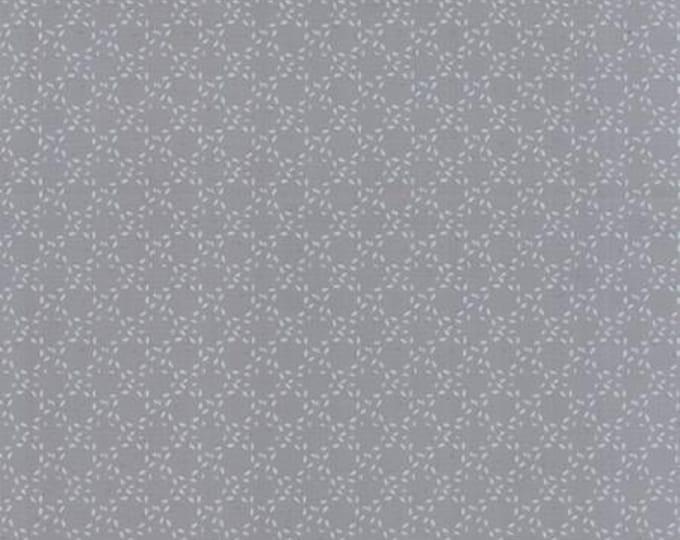 Modern BG Ink Stitched Circles Steel - 1/2yd