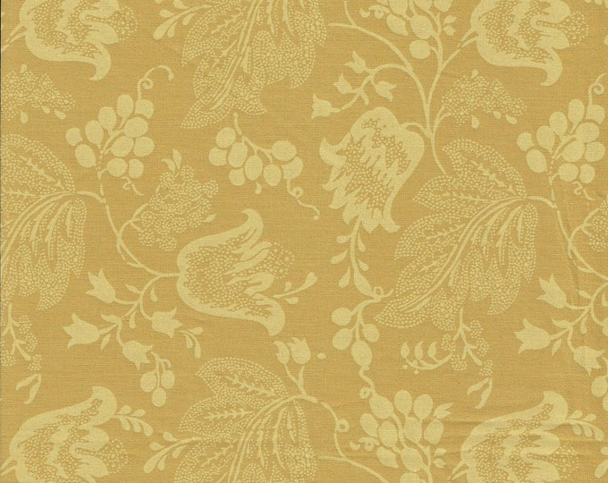 Dutch Chintz - Medium Ochre - Ton sur Ton 1/2yd