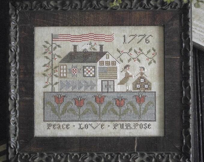 Peace Love and Purpose - Plum Street Samplers - Cross Stitch Chart