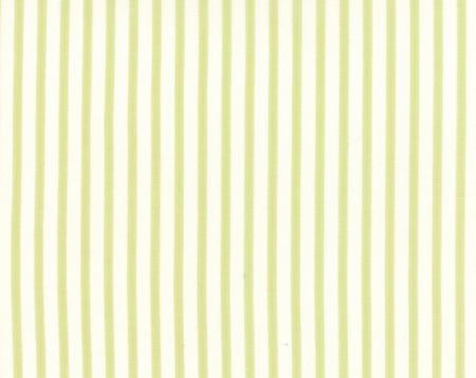 Bespoke Blooms Ticking Stripe Light Green - 1/2yd