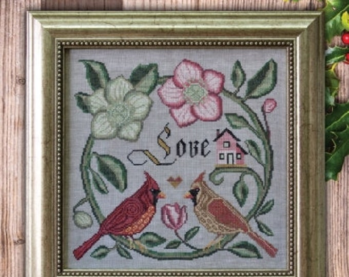 Forever & Ever - Songbird's Garden #1 - Cottage Garden Samplings - Cross Stitch Chart