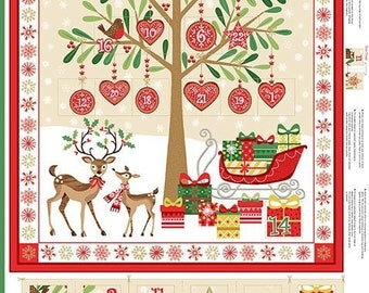 Christmas Tree Advent Calendar 1797 - Fabric Panel