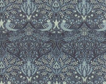 William Morris Dove Rose 1879 Indigo 730121 - 1/2yd