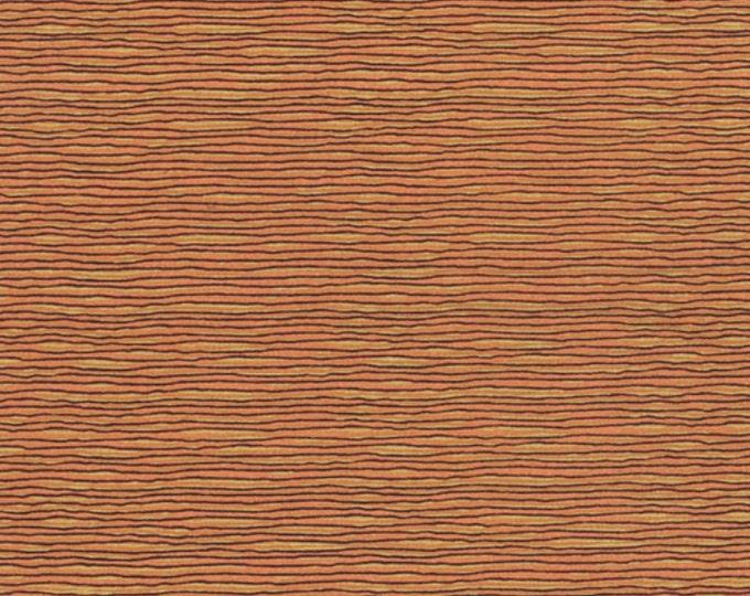 A Wandering Mind - Scribble Stripe - Gold - 1 yd