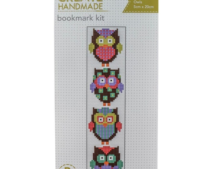Cross Stitch Bookmark Kit - Owls
