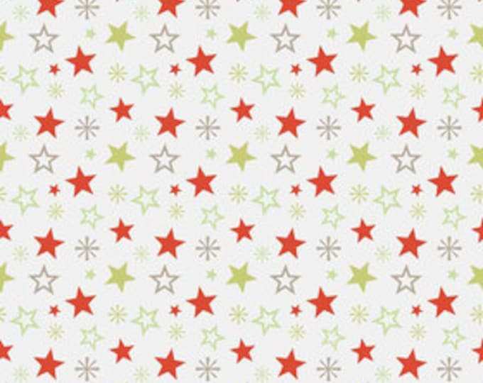 A Very Merry Christmas - Christmas Stars Soft Taupe - 1/2  yard