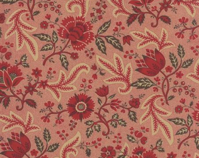 Ville Fleurie Chatenoy le Royal Rouge - 1/2yd