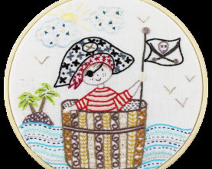 SOS, Pirate in Distress - Embroidery Kit - Une Chat dans l'Aiguille
