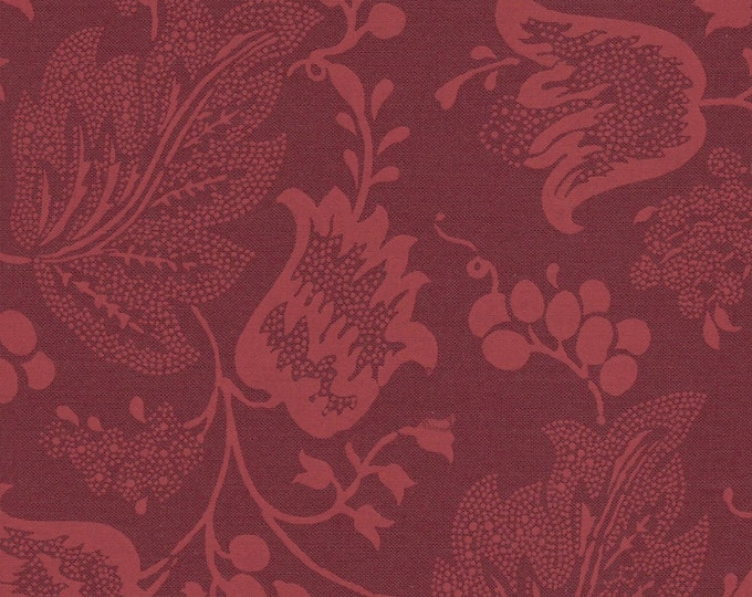 Dutch Chintz - Ton sur Ton Bordeaux FQ