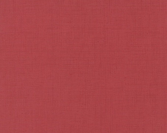 Ville Fleurie Textured Solid Faded Red - 1/2yd