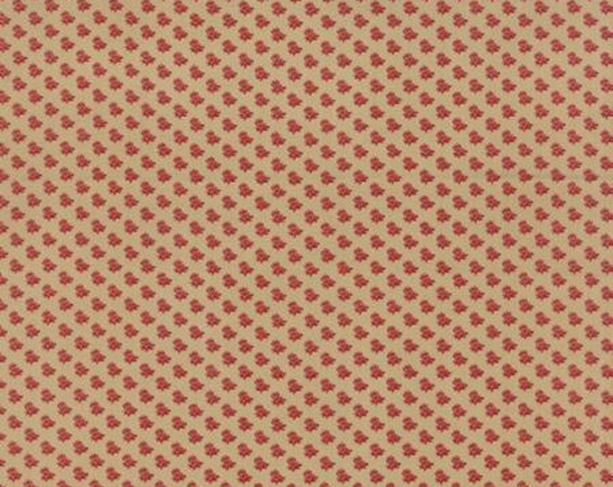 Community Water Lily Tan Crimson - 1/2yd