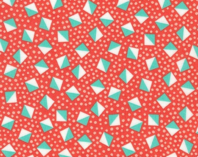 London Calling Lawn 6 - Cubes Coral - 1/2 yard