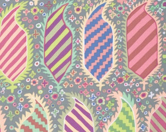 Kaffe Fassett Collective Striped Herald Grey - 1/2yd