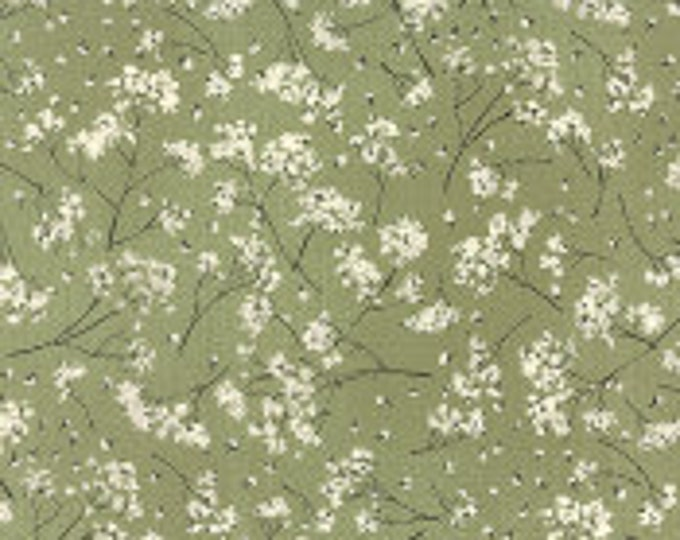Wordsmith Gypsophila Leaf Green - 1/2yd