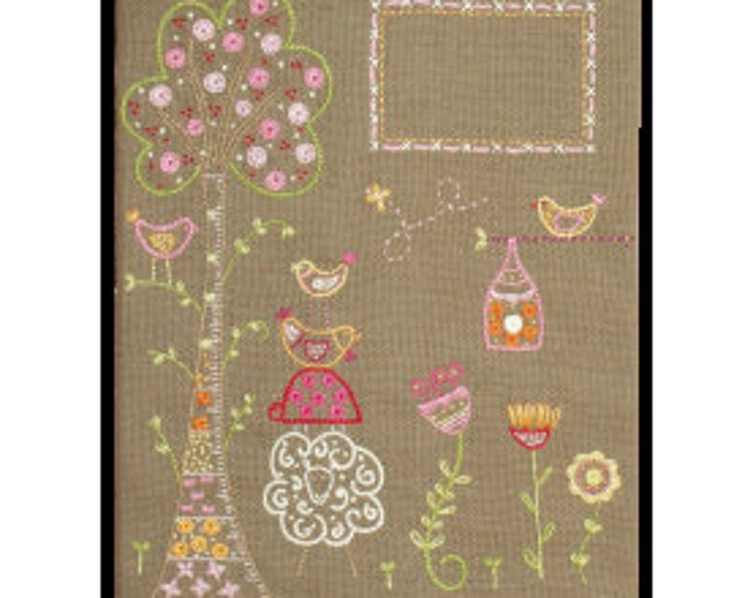 In my Garden Notebook Cover - Embroidery Kit - Une Chat dans l'Aiguille