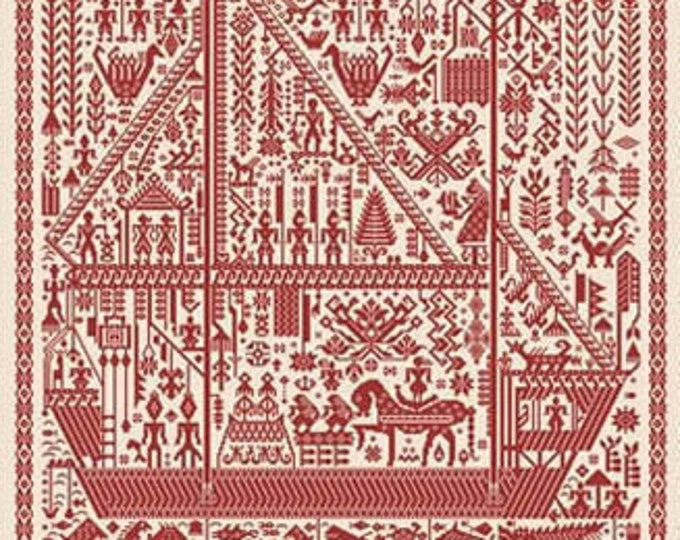 The Big Red Ship of Life - Ink Circles - Cross Stitch Chart