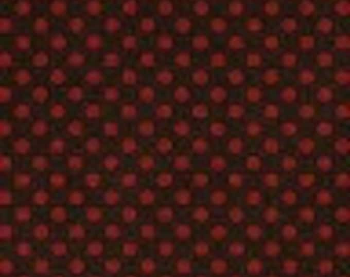 Love Red Dot on Brown 1/2yd