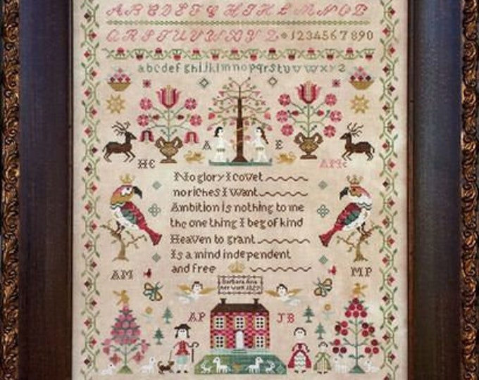 Snooty Parrots Sampler - Barbara Ana Designs - Cross Stitch Chart
