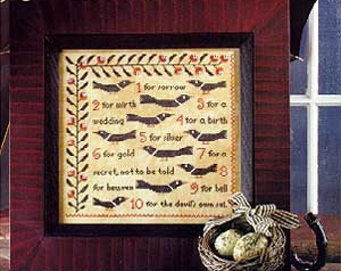 Counting Magpies - Birds of a Feather - Cross Stitch Chart
