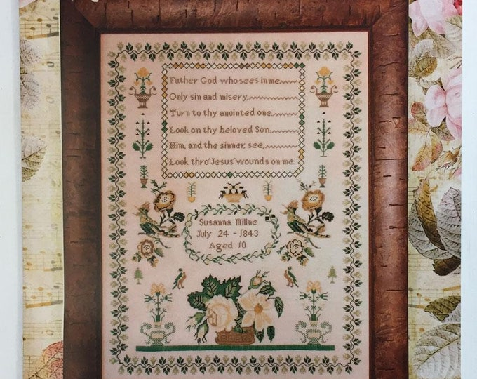 Susanna Milne 1843 - Hands Across The Sea Samplers - Cross Stitch Chart