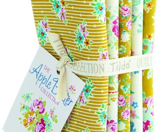 TILDA Apple Butter - Yellow - 5 FQ Bundle