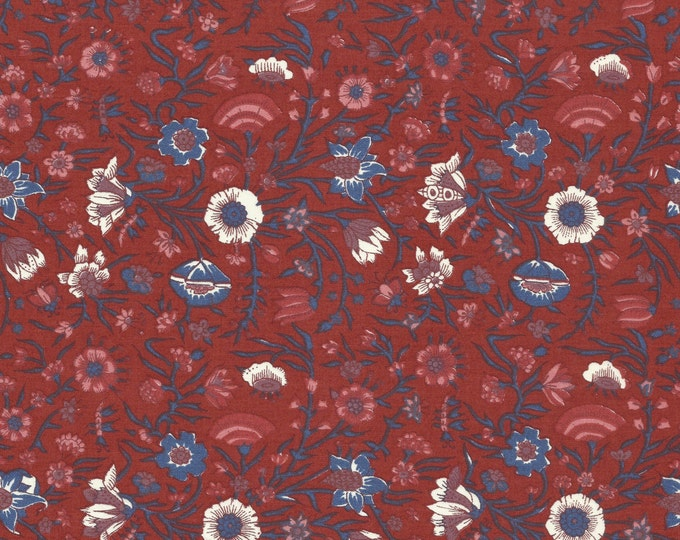 Dutch Chintz - Hindenlopen Red 1/2 yd