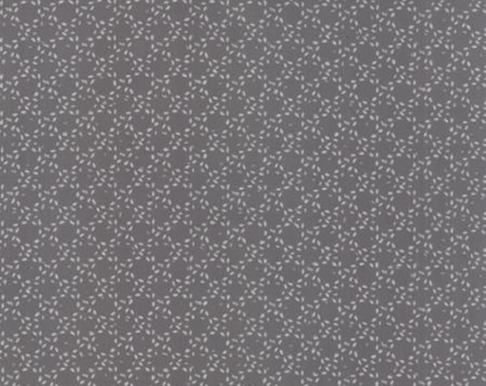 Modern BG Ink Stitched Circles Graphite - 1/2yd