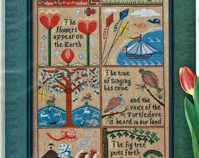 Spring at Hawk Run Hollow - Carriage House Samplings - Cross Stitch Chart