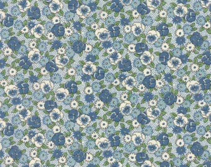 Bread n Butter Pansies Light Blue - 1/2yd