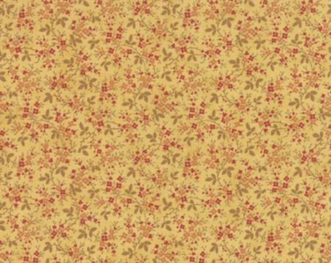 Larkspur Floral Vines Yellow - 1/2yd