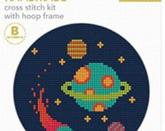 Cross Stitch Kit with Hoop - Galaxy
