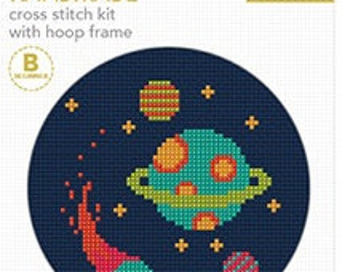 Cross Stitch Kit with Hoop - Galaxy