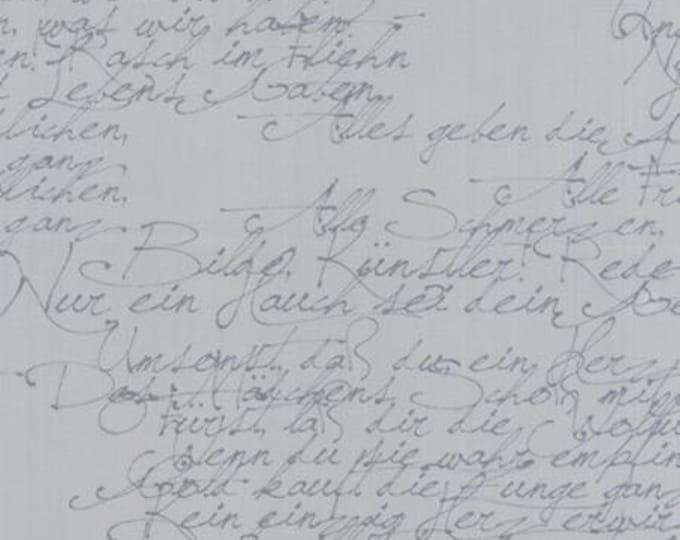 Modern BG Ink Handwriting Zen Grey - 1/2yd
