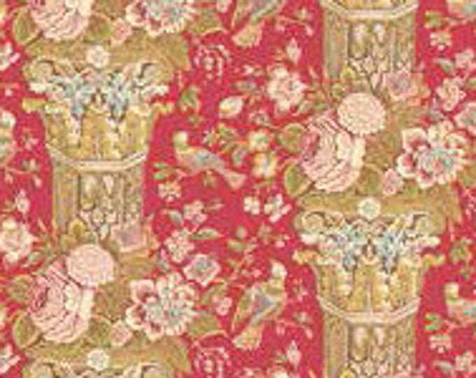 Cloverdale House Large Floral Red 7965R - 1/2yd