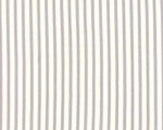 Bespoke Blooms Ticking Stripe Grey - 1/2yd