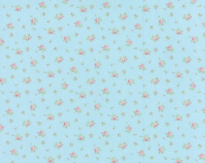Bespoke Blooms Sprinkled Floral Aqua - 1/2yd