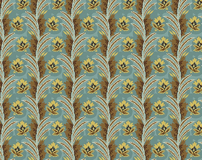 Windermere by Di Ford Hall - Fronds Teal 8923LT - 1/2yd