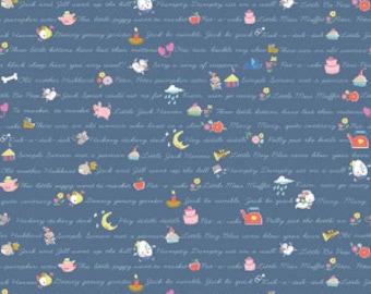 Once Upon a Rhyme - C8025 Blue - 1/2yd