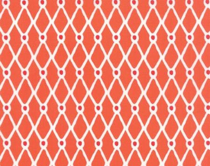 Beach House - Fishnet Orange  - 1/2 yd