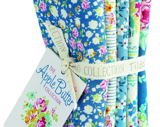 TILDA Apple Butter - Blue - 5 FQ Bundle